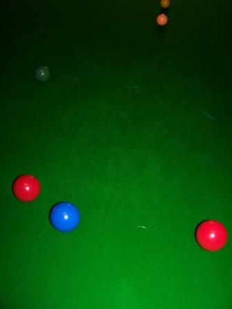 Snooker in the Games Room.